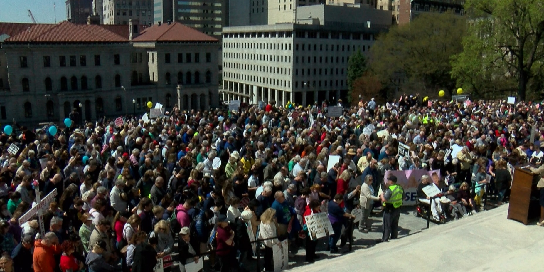 Roughly 6,500 people attend inaugural 'March for Life' rally