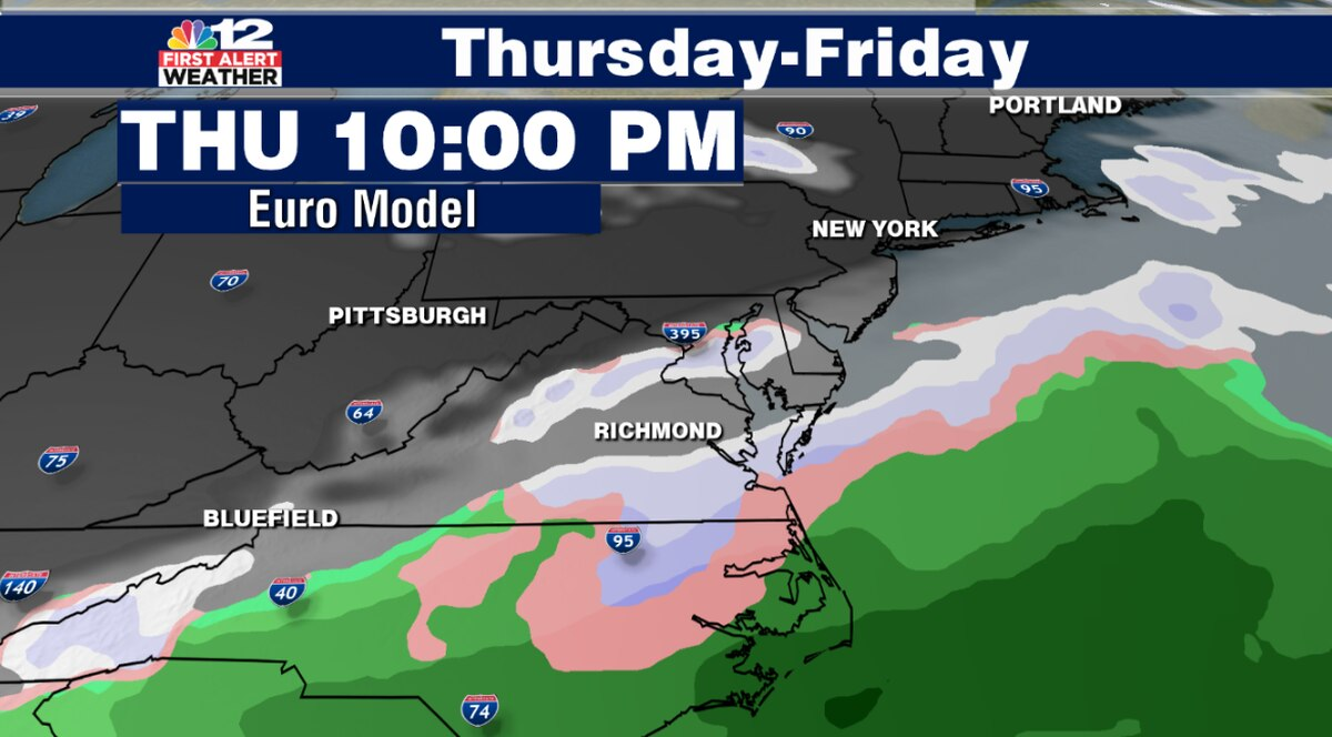 First Alert: Watching potential for snow late Thursday