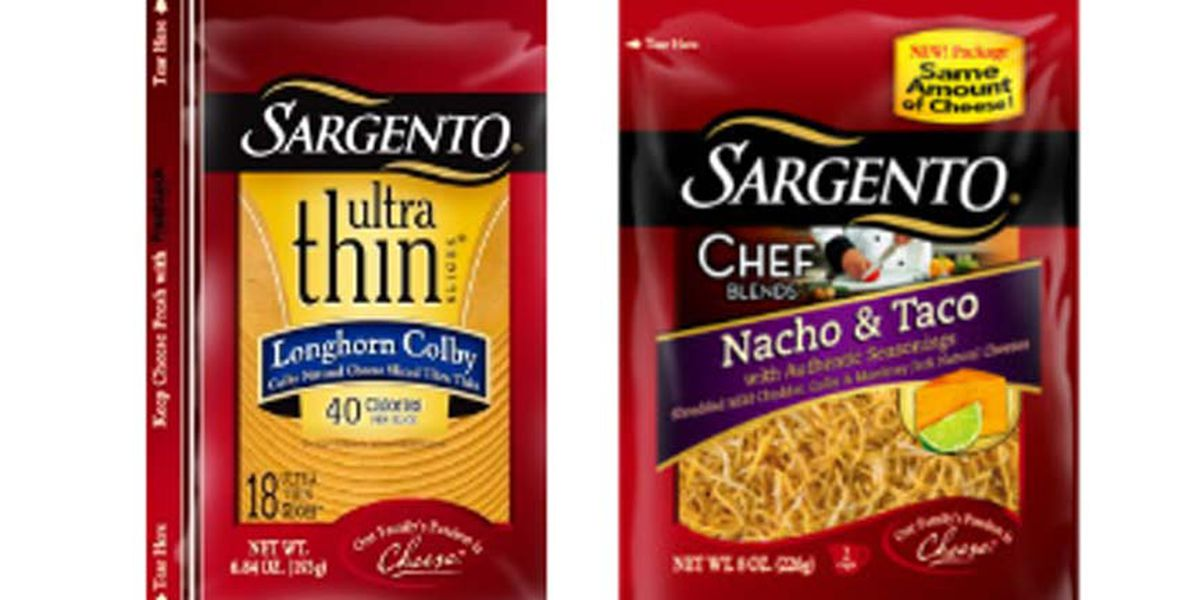 Some Sargento cheese products recalled due to possible listeria contamination
