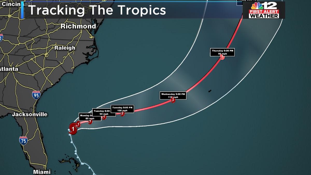 Humberto upgraded to hurricane strength