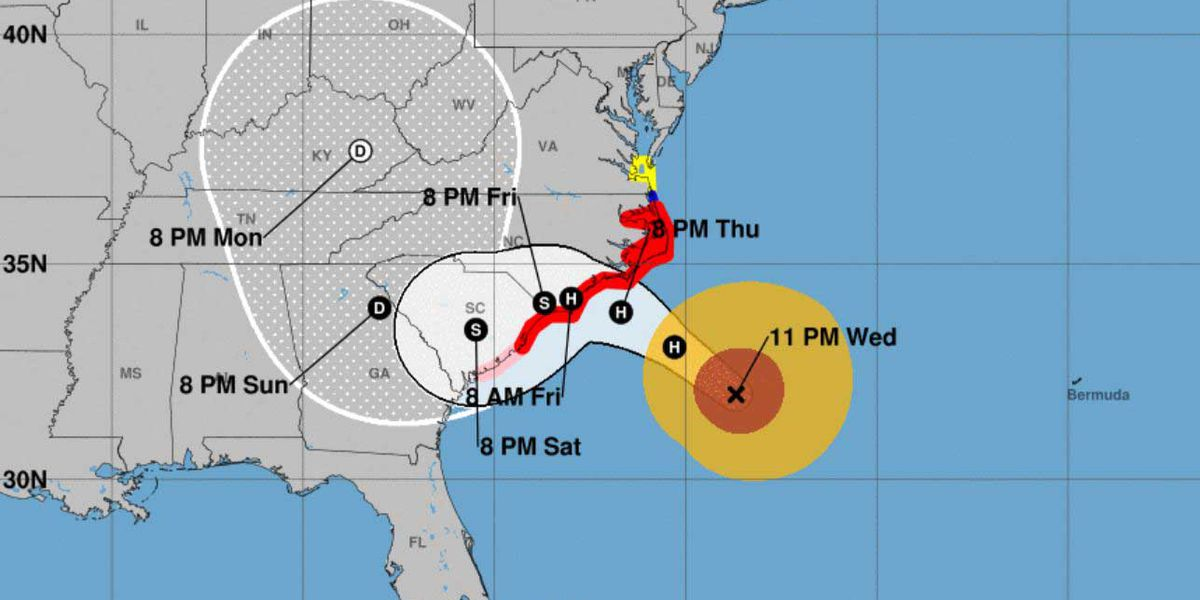 Hurricane Florence downgraded to Category 2; still a unsafe storm