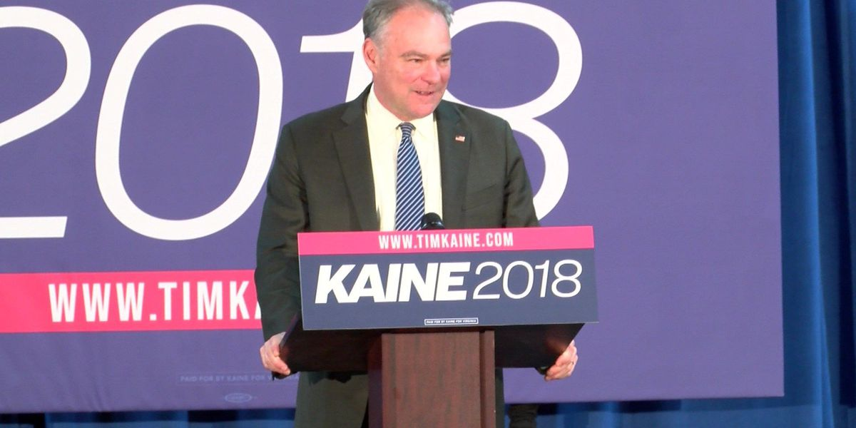 Sen. Kaine kicks off re-election bid