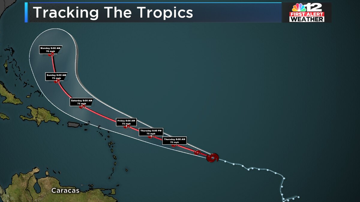Hurricane Jerry forecast to stay east of U.S.