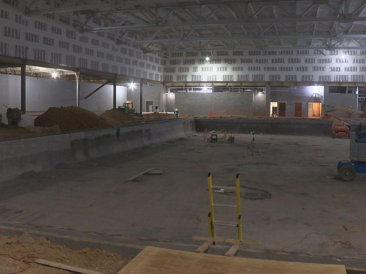 New NOVA Aquatic facility taking shape in Regency Mall