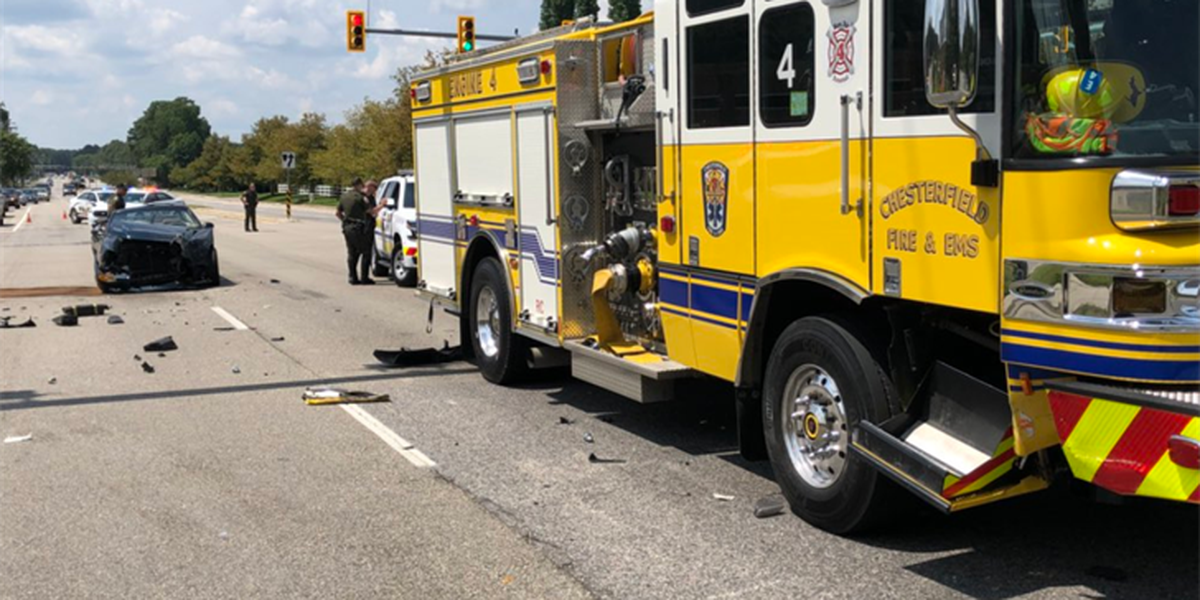 Minor injuries reported in crash involving fire truck