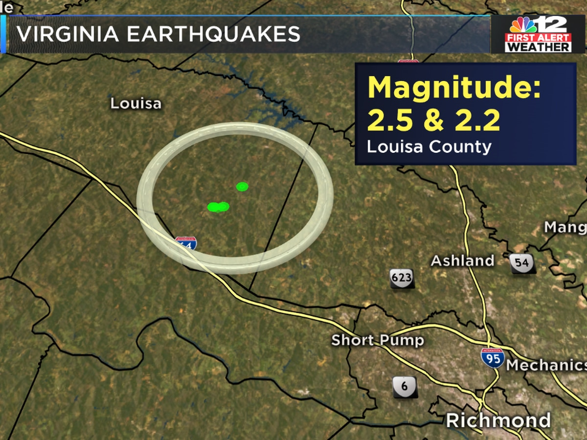 2 earthquakes shake Central Virginia Friday
