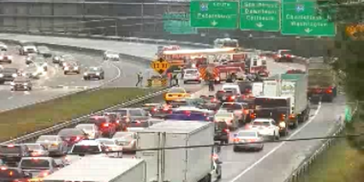 Lanes reopen after school bus crash on I-64 west in Richmond