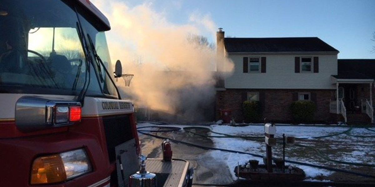 Heater sparks house fire in Colonial Heights