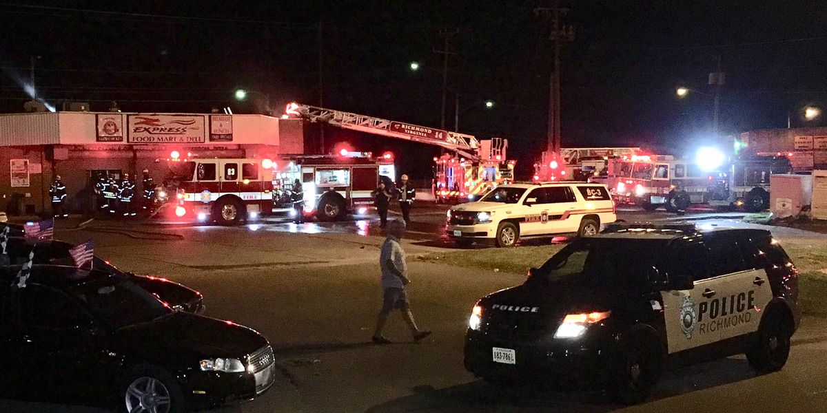 Richmond firefighters battle blaze at convenience store