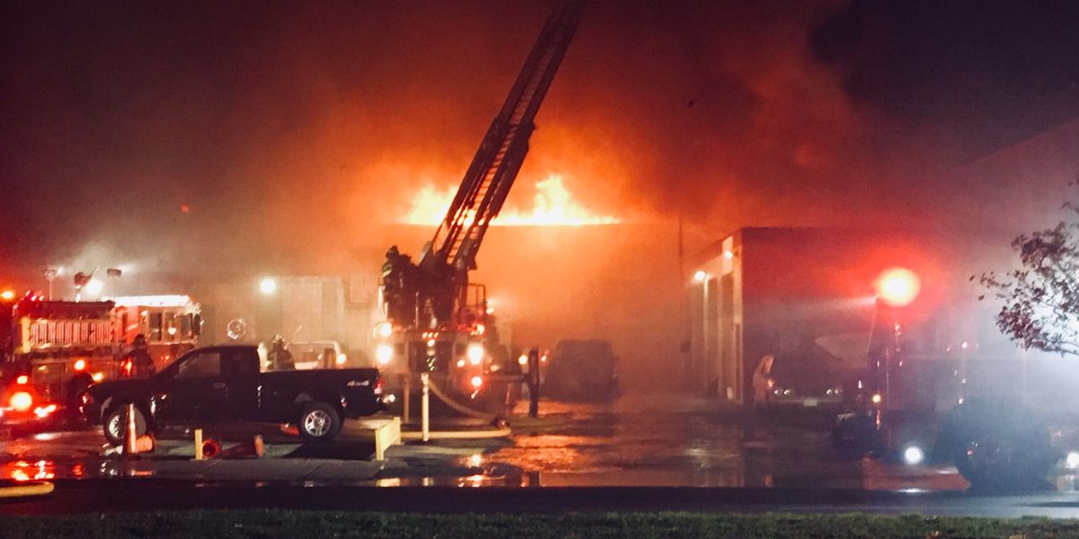 Man found dead in burning warehouse was shot multiple times