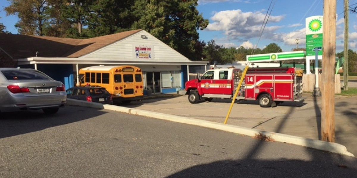 Bus crashes into daycare in Richmond