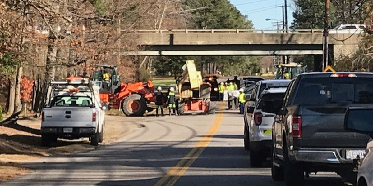 Road closed for emergency repair work to bridge that was struck by vehicle in Chesterfield