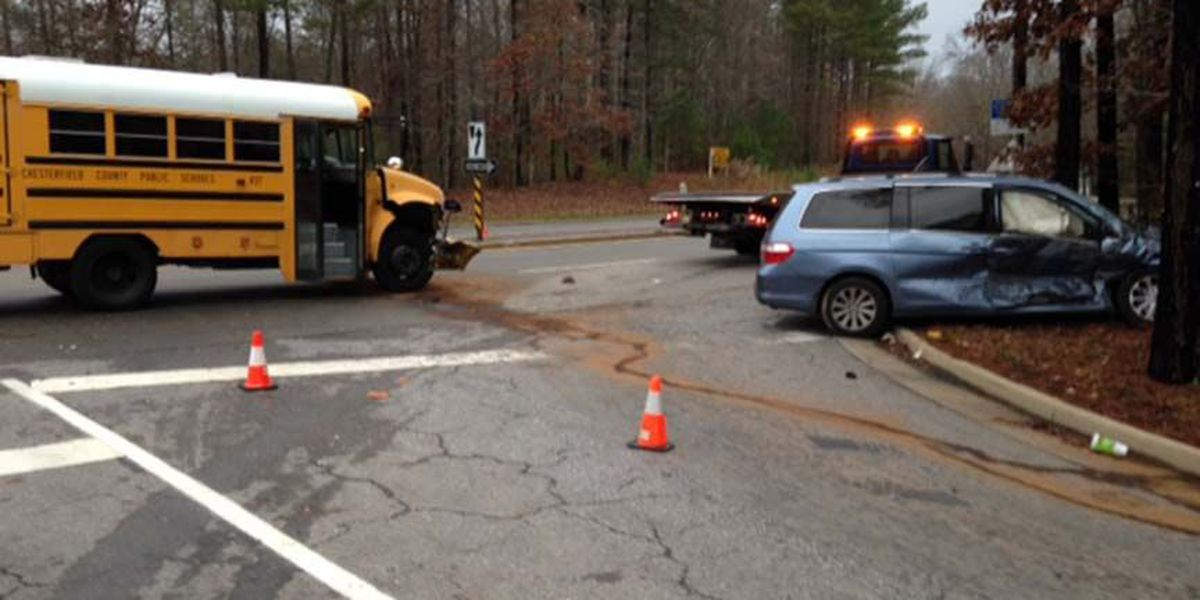 Police: Van pulled in front of Chesterfield school bus; 2 taken to hospital
