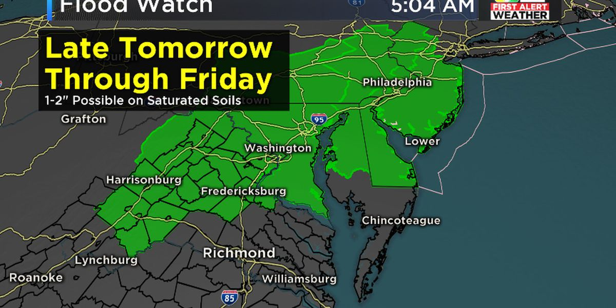First Alert Weather Day: Heavy rain likely late Thursday through early Friday