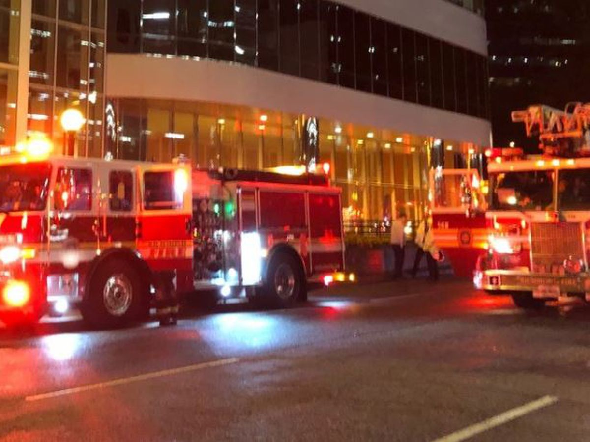 Crews respond to fire on fourth floor of old Wells Fargo building