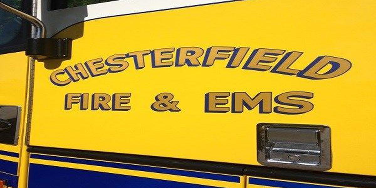 Crews battling brush fire in Chesterfield