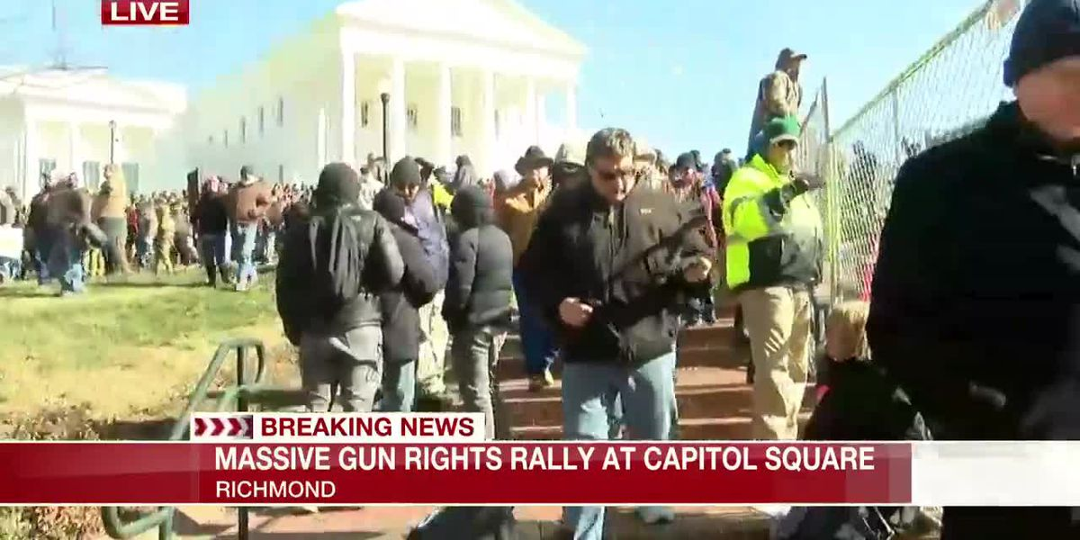 Massive crowds at gun-rights rally in Richmond