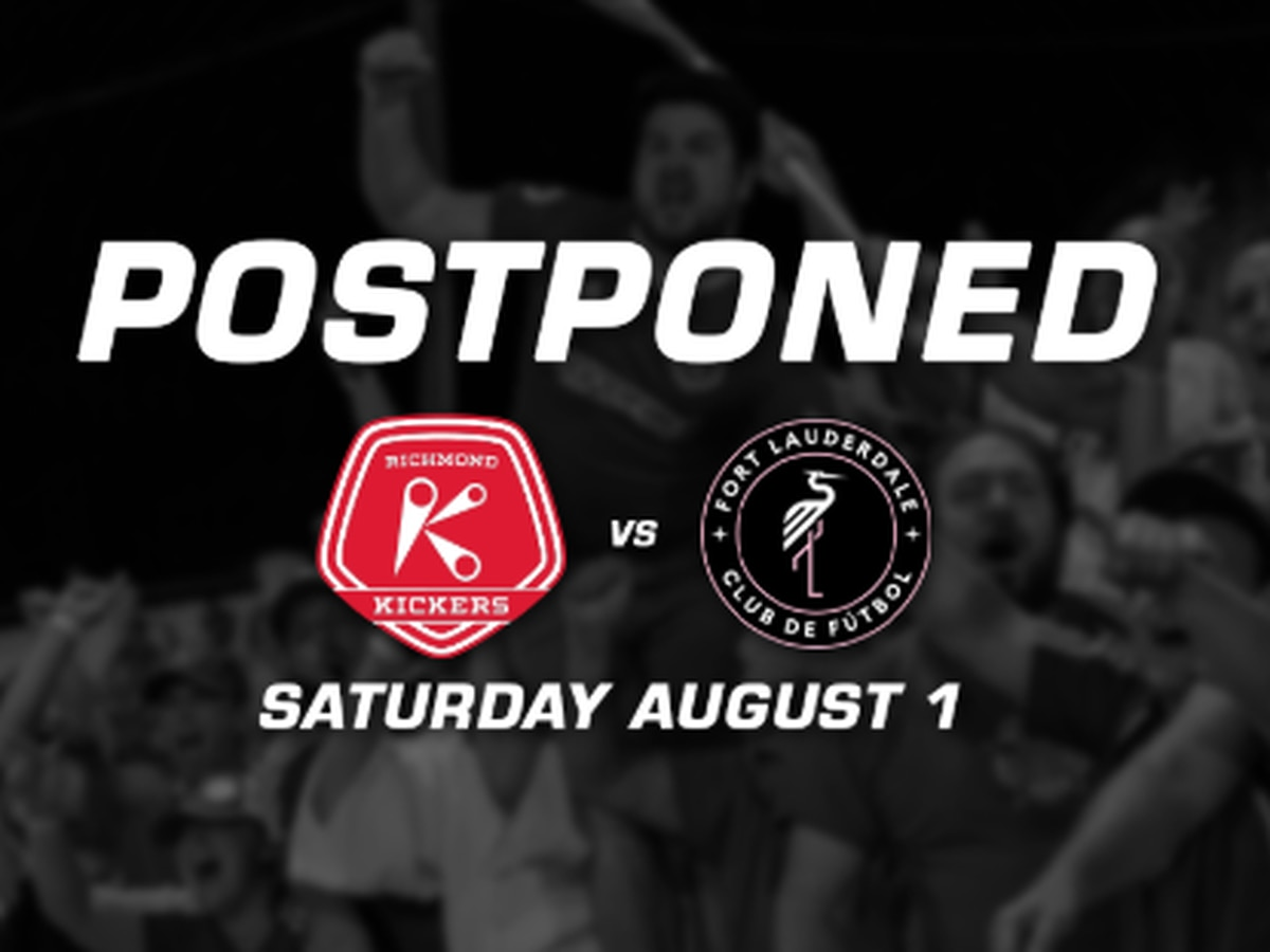 Richmond Kickers home opener postponed