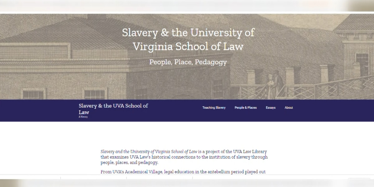 University of Virginia School of Law creates a digital archive depicting its ties to slavery