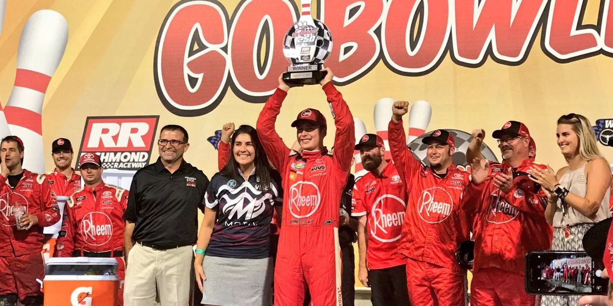 Bell wins GoBowling 250; Sadler finishes 6th