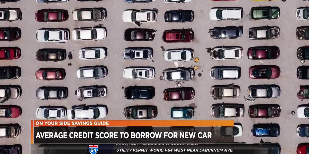 Average credit score to borrow for a new car
