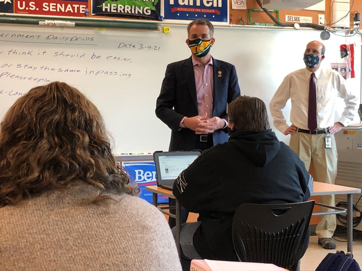 Governor Northam views in-person learning methods