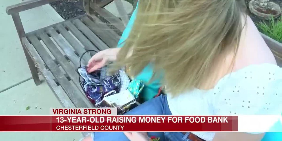 13-year-old raising money for food bank