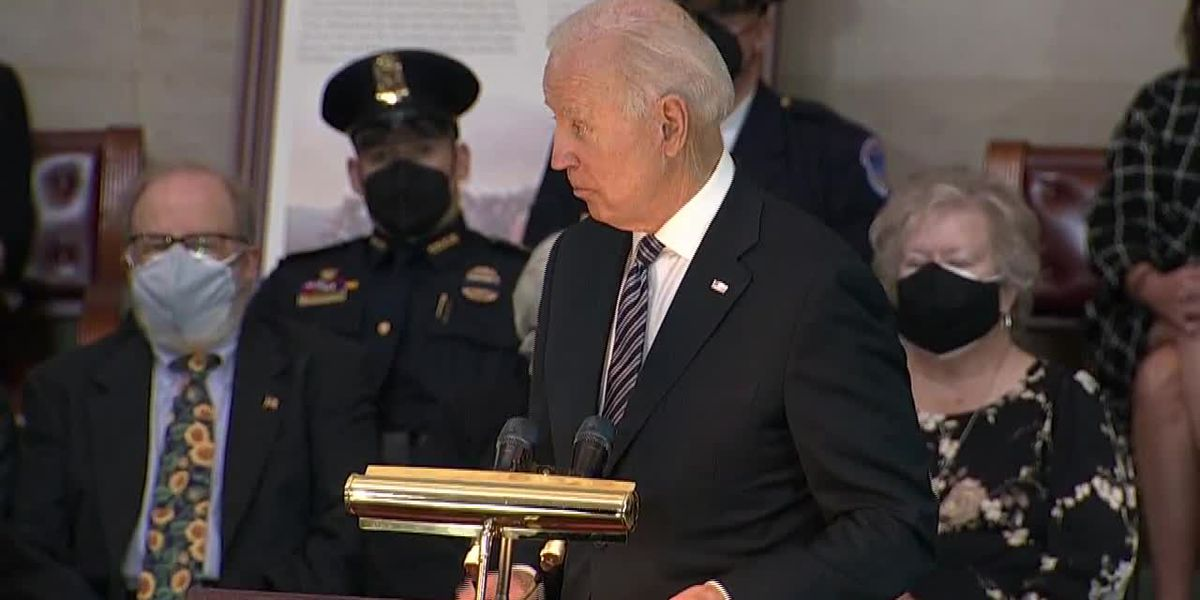 Biden pays tribute to fallen Capitol Police officer