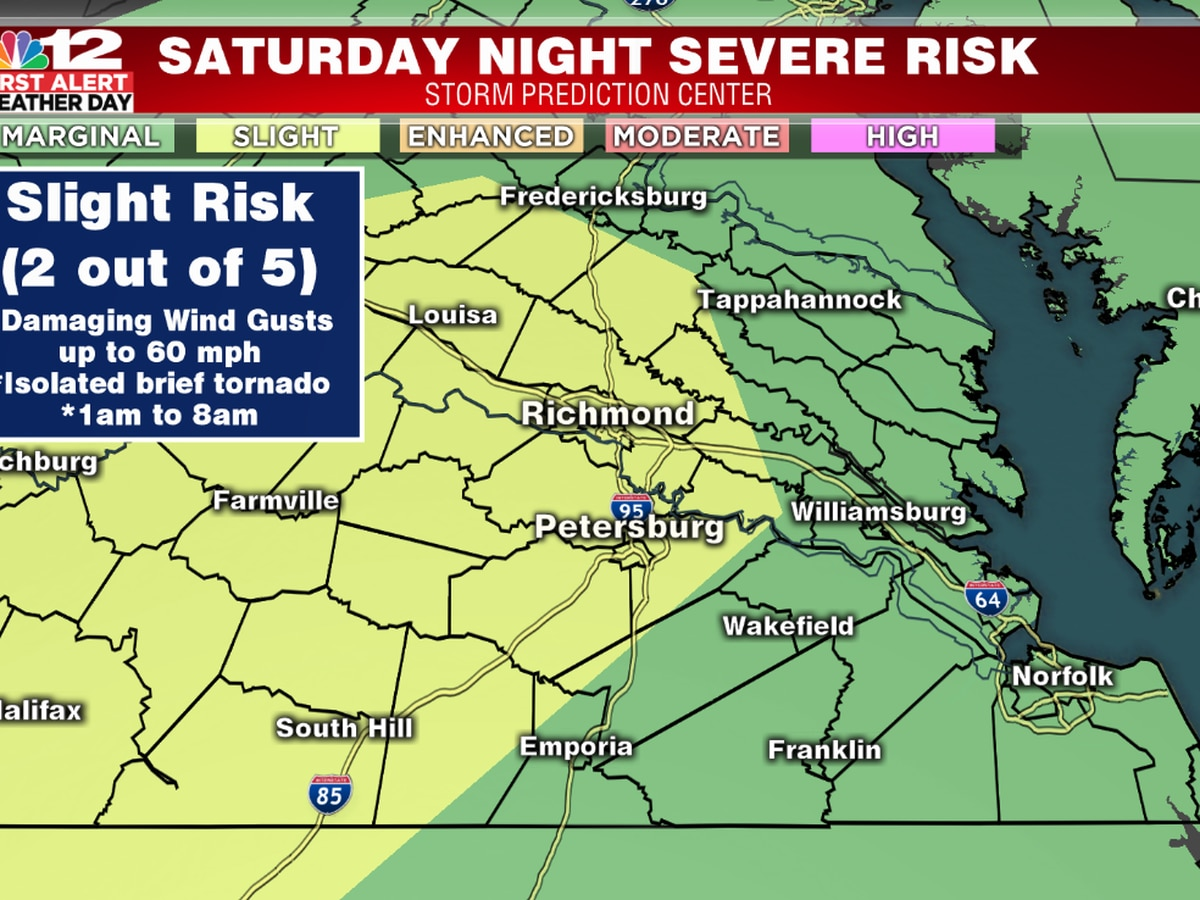 First Alert Weather Day: Severe storm threat for Saturday night upgraded