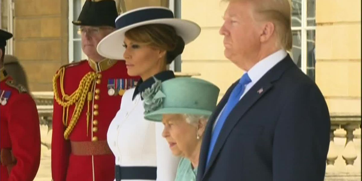 Trump meets with queen, to dine at Buckingham Palace in UK trip