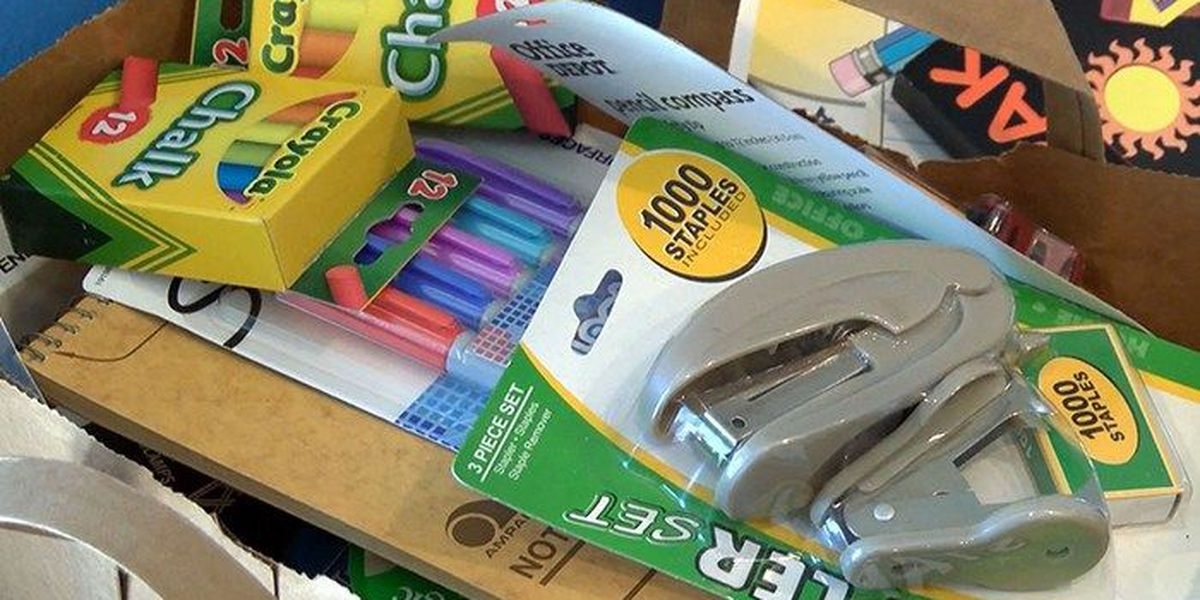 School supply donations flood in for kids in need