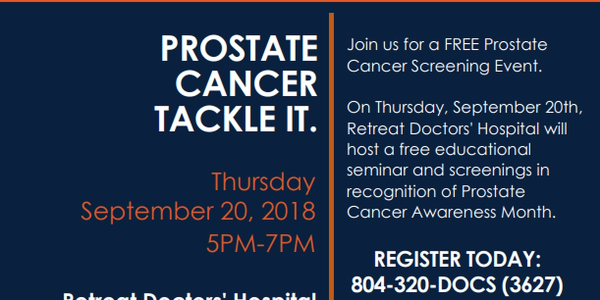 Retreat Doctors' Hospital offering free seminars, screenings for Prostate Cancer Awareness Month