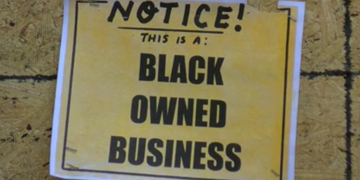 Black-owned businesses post signs to stop vandalism, looting