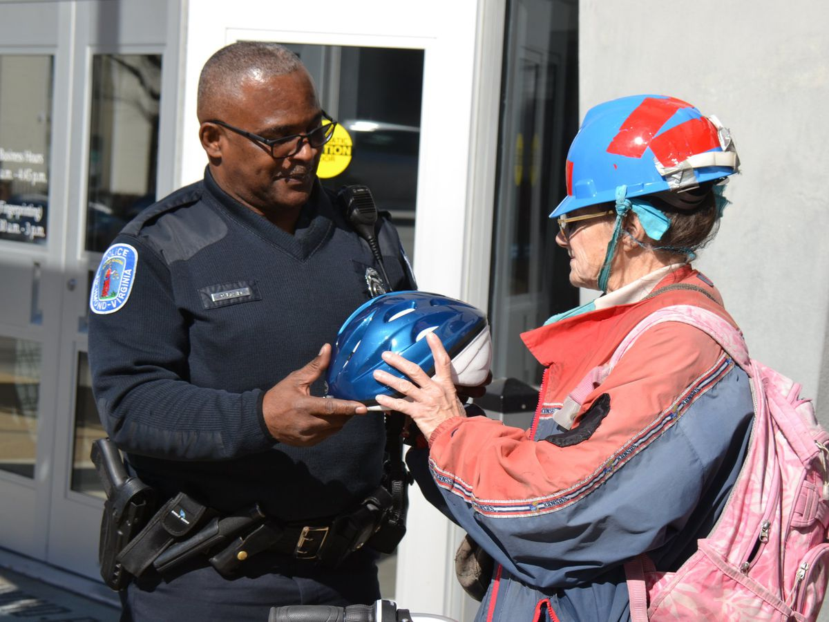 Woman receives new bike from Richmond police after being hit by car