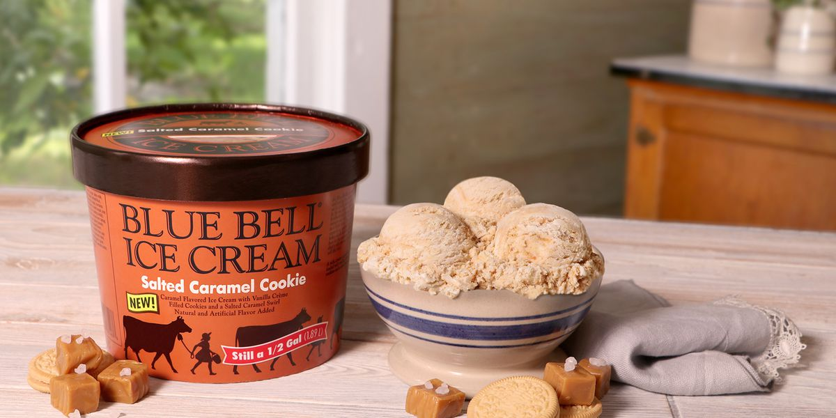 Blue Bell releases a new fall flavor, Salted Caramel Cookie