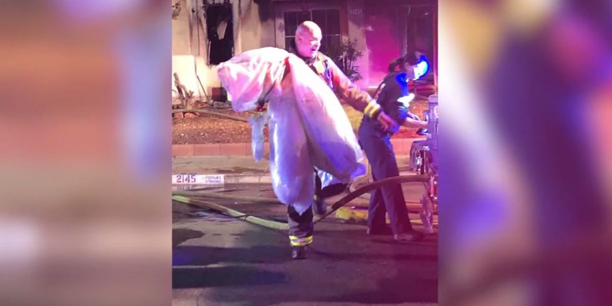 Firefighters save wedding ring, dress after couple's home goes up in flames