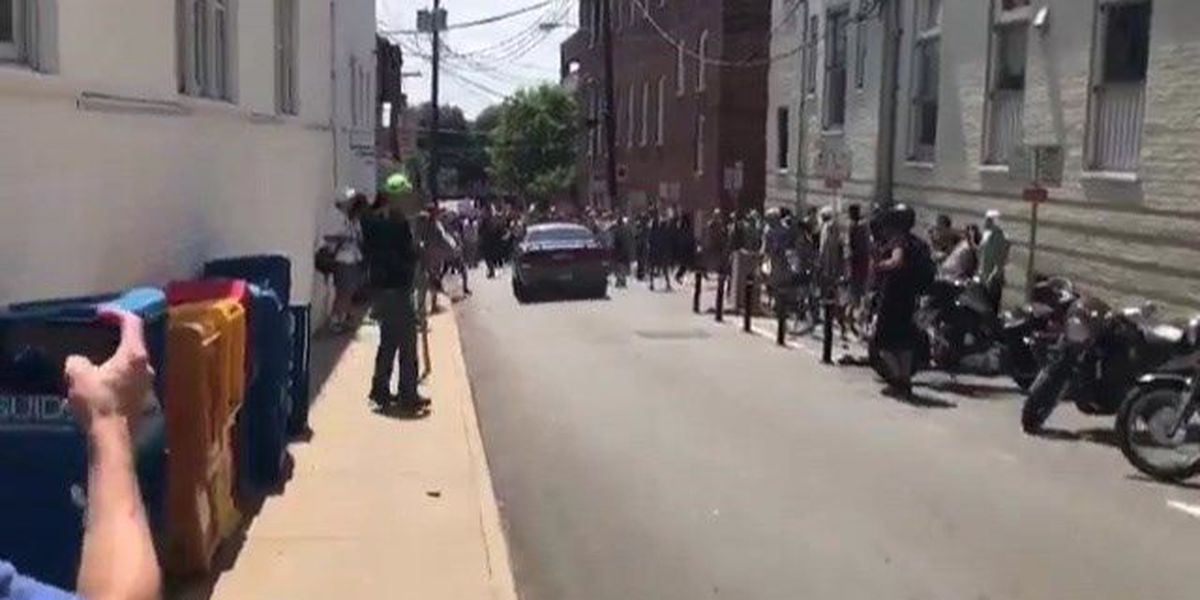 1 dead after driver plows into Charlottesville protests; suspect in custody
