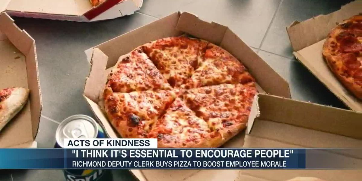 Richmond Deputy Clerk buys pizza for staff to boost morale