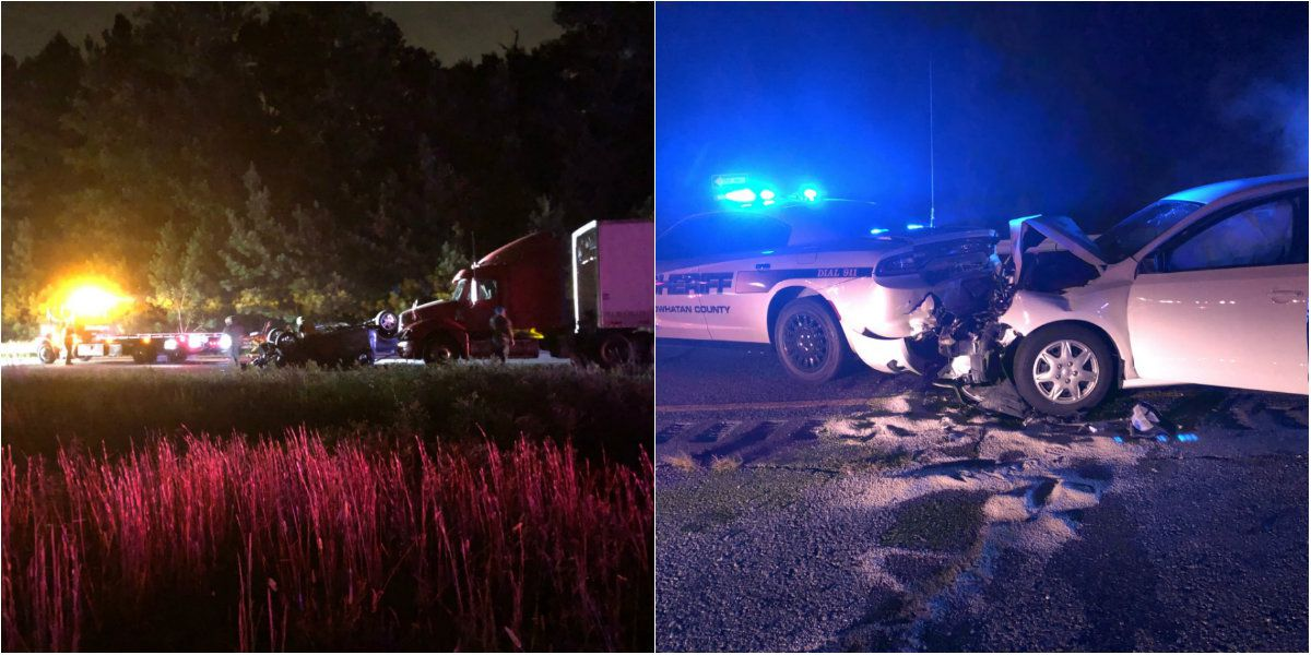 Two crashes, one involving police cruiser, cause closures on Rt. 288
