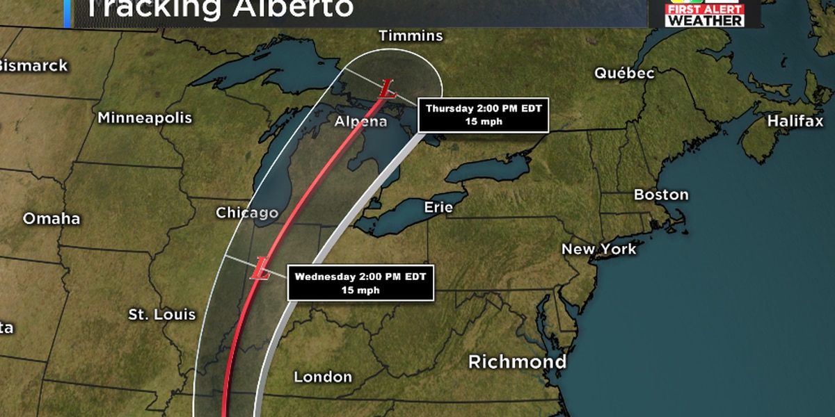 FIRST ALERT: Alberto makes landfall in the Florida Panhandle