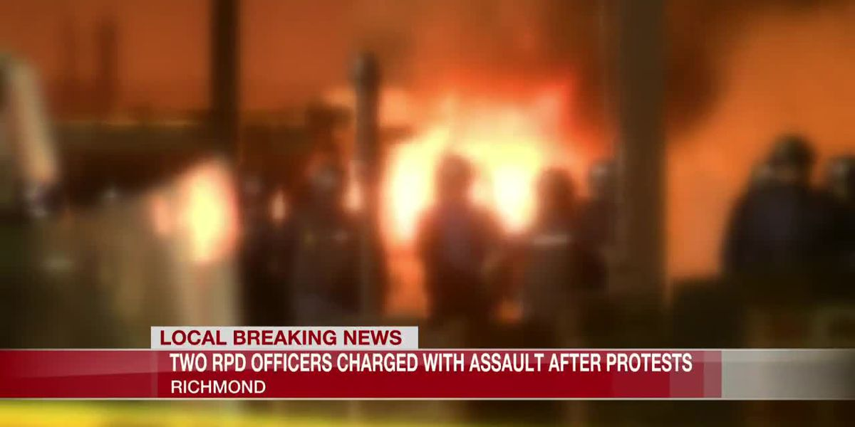 Two Richmond police officers charged with assault for actions during city's civil unrest