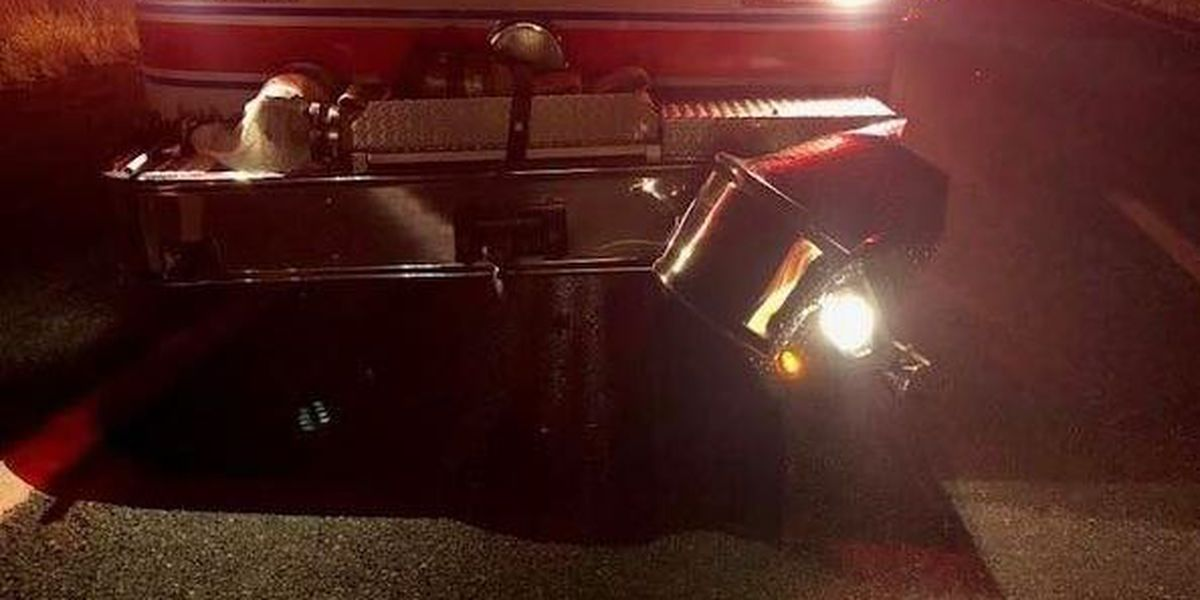 Fire-Rescue crews remind drivers to slow down, move over after fire truck hit on I-64