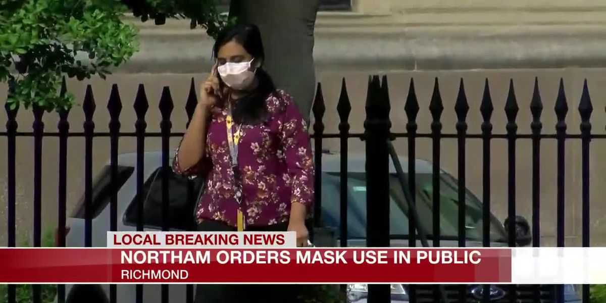 Northam orders mask use in public
