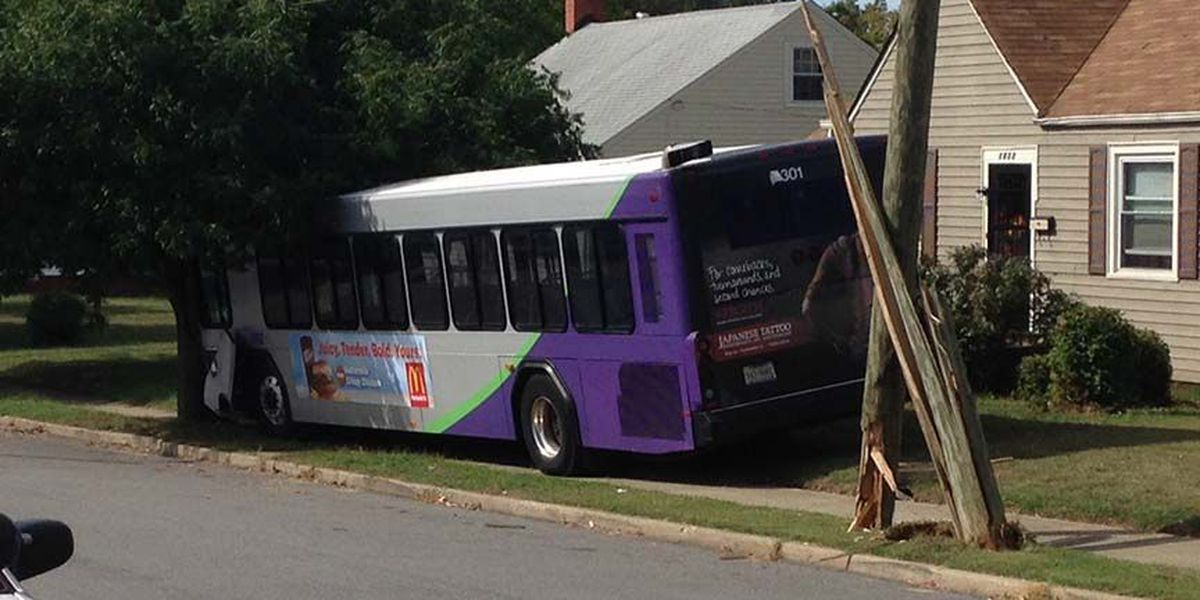 GRTC bus goes off road, knocks out power to 600