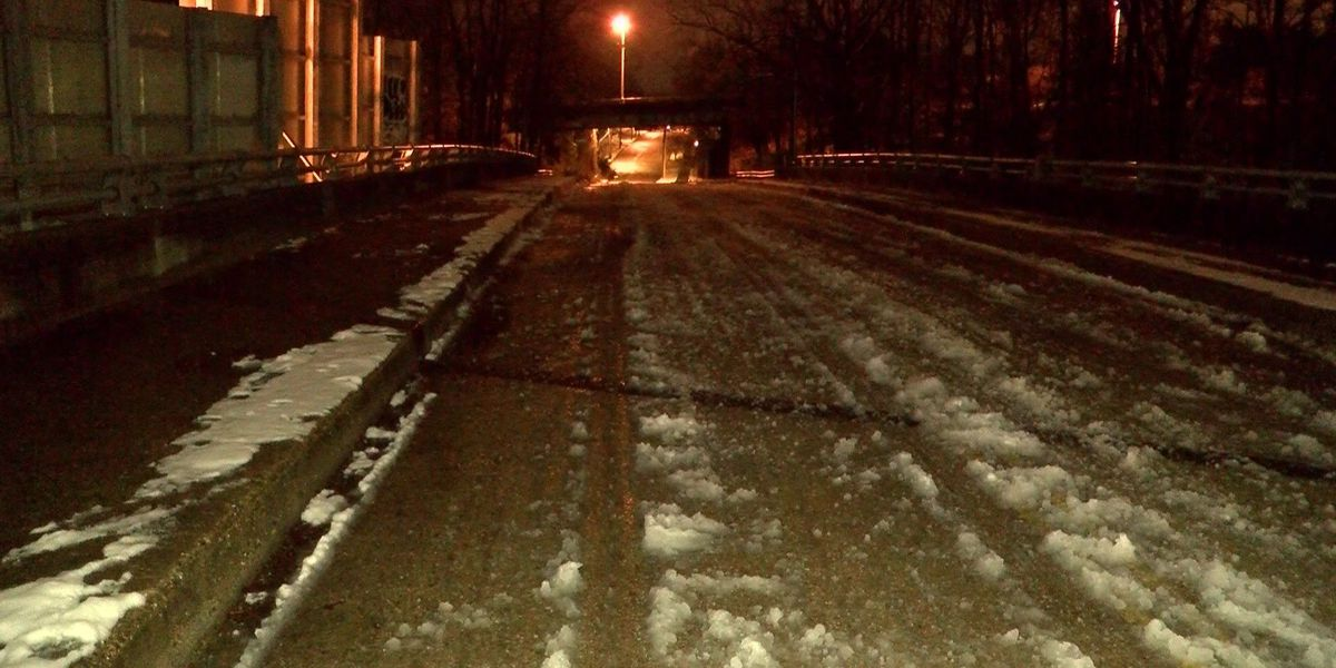 Slick roads could freeze overnight