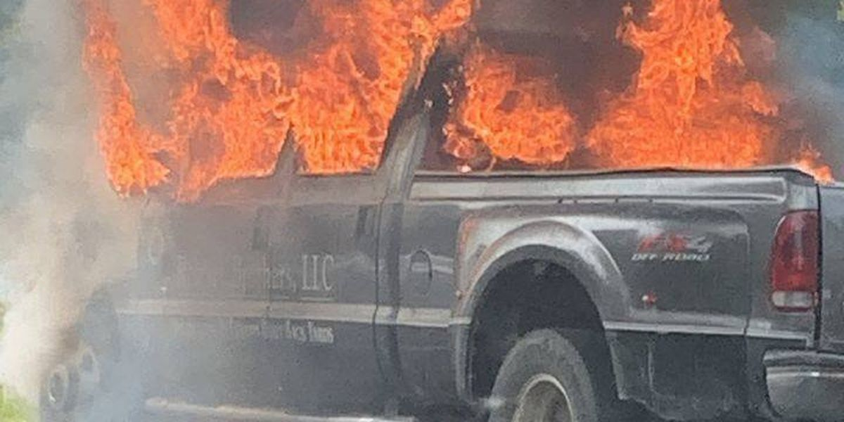 Truck catches fire on Route 288