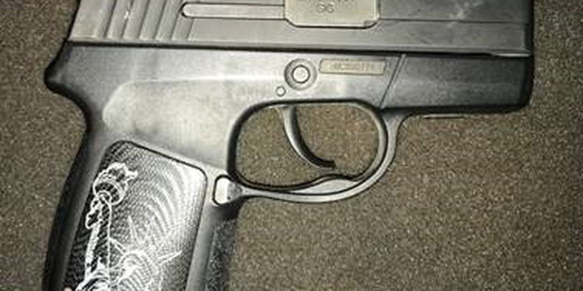 Gun engraved with Statue of Liberty found at Norfolk airport