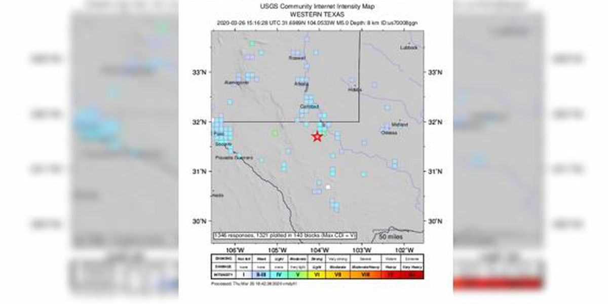 2 earthquakes rattle West Texas; largest is magnitude 5.0