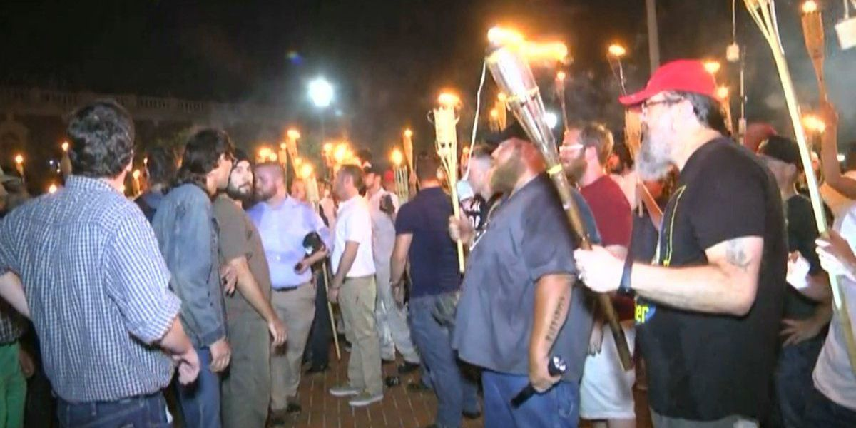 Hundreds gather at UVA in response to judge's decision regarding Unite the Right rally