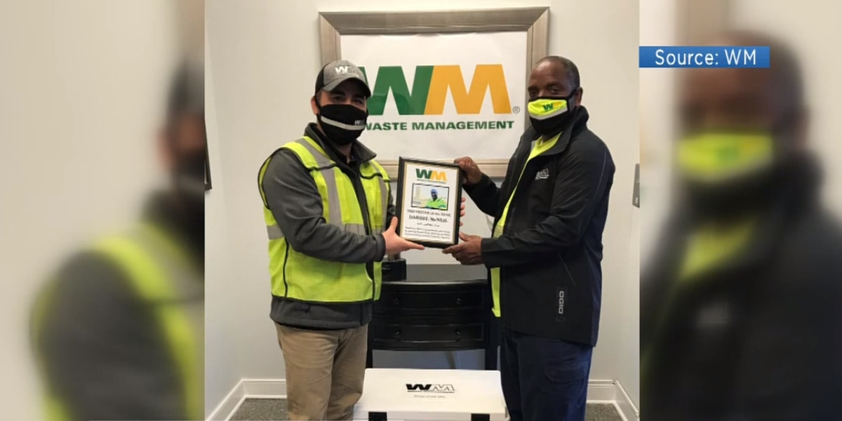 Henrico garbage man earns 'Driver of the Year' at Waste Management